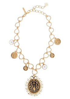 Oscar de la Renta Medallion Pendant Necklace