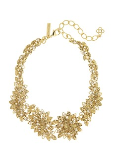 Oscar de la Renta Milgrain Petal Statement Necklace