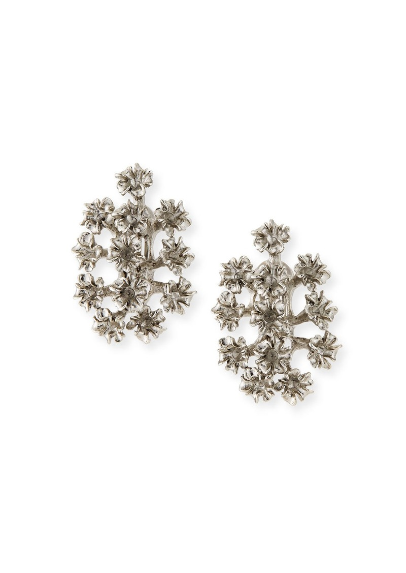 Oscar de la Renta Mini Flower Clip-On Earrings