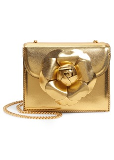 Oscar de la Renta Mini Tro Metallic Leather Crossbody Bag