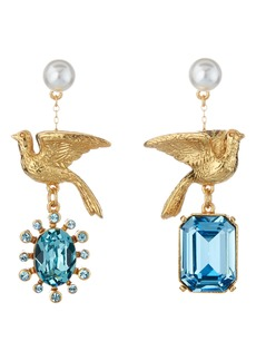 Oscar de la Renta Mismatched Dove Earrings