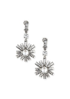 Oscar de la Renta Modern Baguette Crystal Earrings