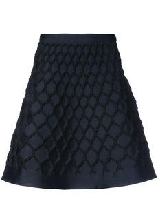 Oscar de la Renta net jacquard knit skirt - Black