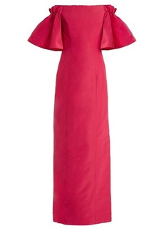 Oscar De La Renta Off-the-shoulder silk-faille gown
