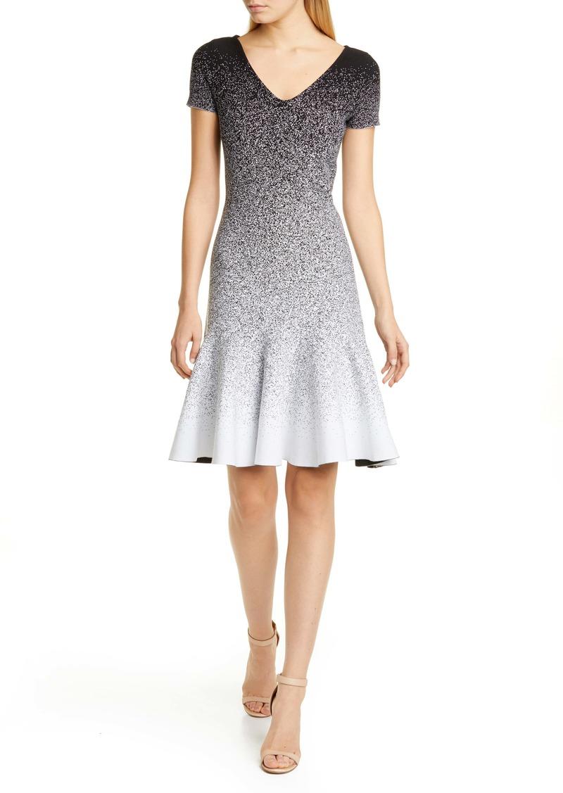 Oscar de la Renta Ombré Jacquard Dress