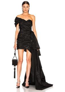 Oscar de la Renta One Shoulder Strapless Dress