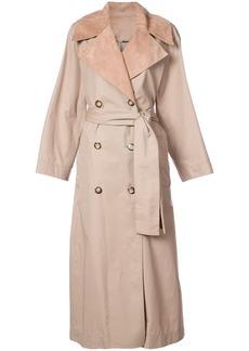Oscar de la Renta oversized trench coat - Brown