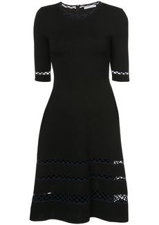 Oscar de la Renta panelled a-line dress - Black