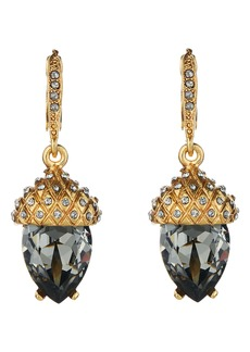 Oscar de la Renta Pavé Acorn Drop Earrings