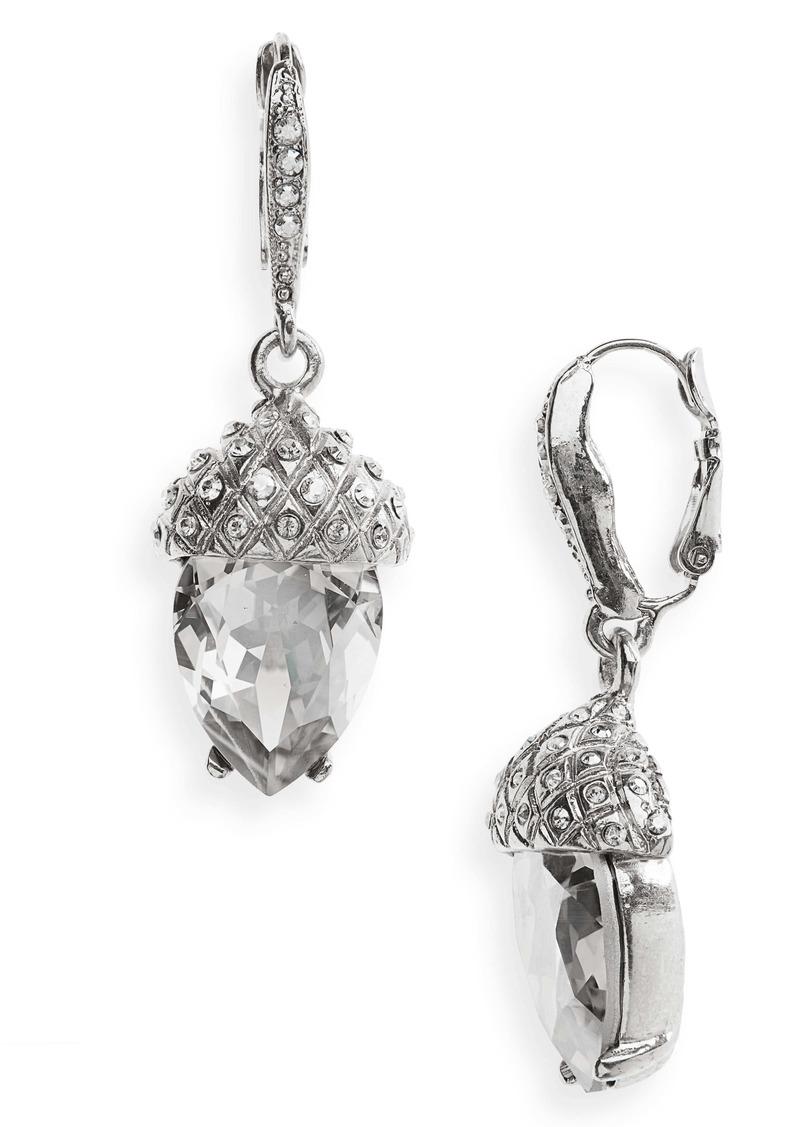 Oscar de la Renta Pavé Acorn Drop Earrings