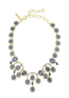 Oscar de la Renta Pavé Oval Crystal Necklace