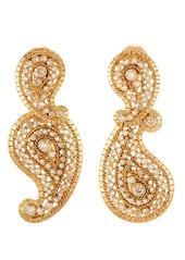 Oscar de la Renta Pavé Paisley Earrings