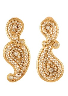 Oscar de la Renta Pavé Paisley Earrings