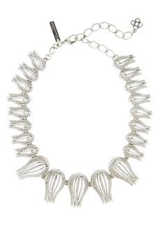 Oscar de la Renta Pavé Tulip Collar Necklace