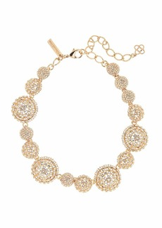 Oscar de la Renta Pave Crystal Dome Necklace