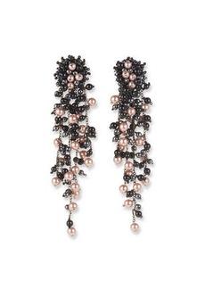 Oscar de la Renta Pearly Chain Drop Earrings