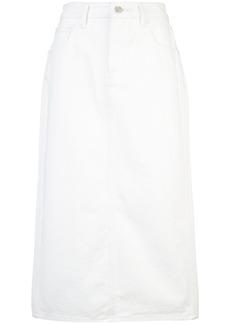 Oscar de la Renta pencil denim skirt - White