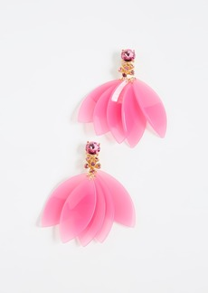 Oscar de la Renta Petal Leaves Earrings