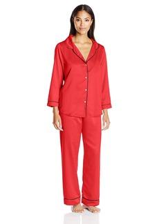 OSCAR DE LA RENTA Pink Label Women's Matte Satin Pajama  L