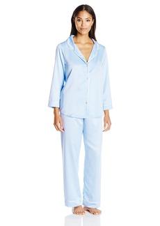 Oscar de la Renta Pink Label Women's Matte Satin Pajama  S