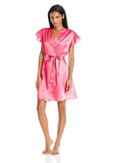 OSCAR DE LA RENTA Pink Label Women's Satin Charmeuse Short Wrap