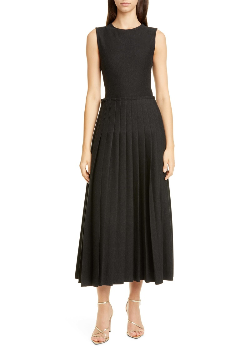 Oscar de la Renta Pleated Dress