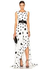 Oscar de la Renta Polka Dot Dress