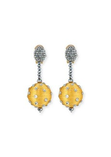 Oscar de la Renta Polka Dot Sequin Clip-On Earrings