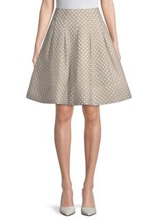 Oscar de la Renta Polka Dot Skirt