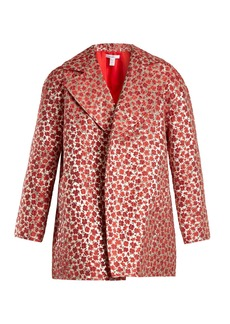 Oscar De La Renta Poppy-jacquard coat