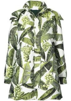 Oscar de la Renta printed coat - Green