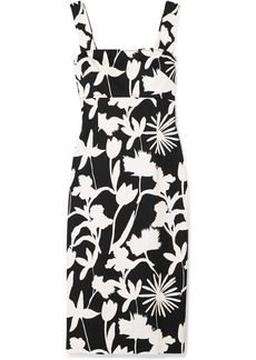 Oscar de la Renta Printed Cotton-blend Twill Dress
