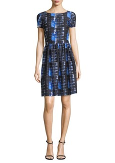 Oscar de la Renta Printed Cotton Dress