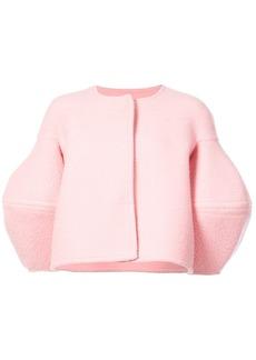 Oscar de la Renta puff-sleeve jacket - Pink & Purple