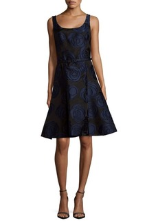 Oscar de la Renta Pull-On Scoopneck Dress