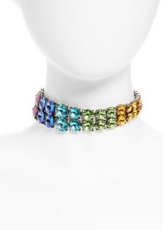 Oscar de la Renta Rainbow Crystal Choker Necklace