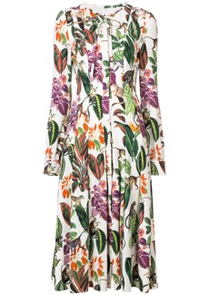 Oscar de la Renta Rainforest print dress - Multicolour