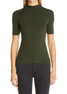 Oscar de la Renta Rib Silk Blend Sweater