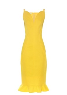 Oscar De La Renta Ruffle-trimmed sleeveless dress