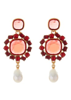 Oscar de la Renta Runway Jewel Drop Earrings