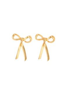 Oscar de la Renta Runway Metal Bow Earrings