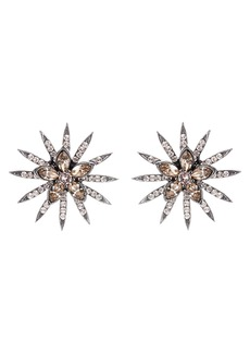 Oscar de la Renta Runway Pavé Stud Earrings