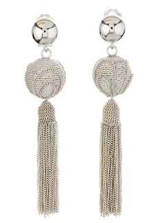 Oscar de la Renta Runway Tassel Chain Earrings