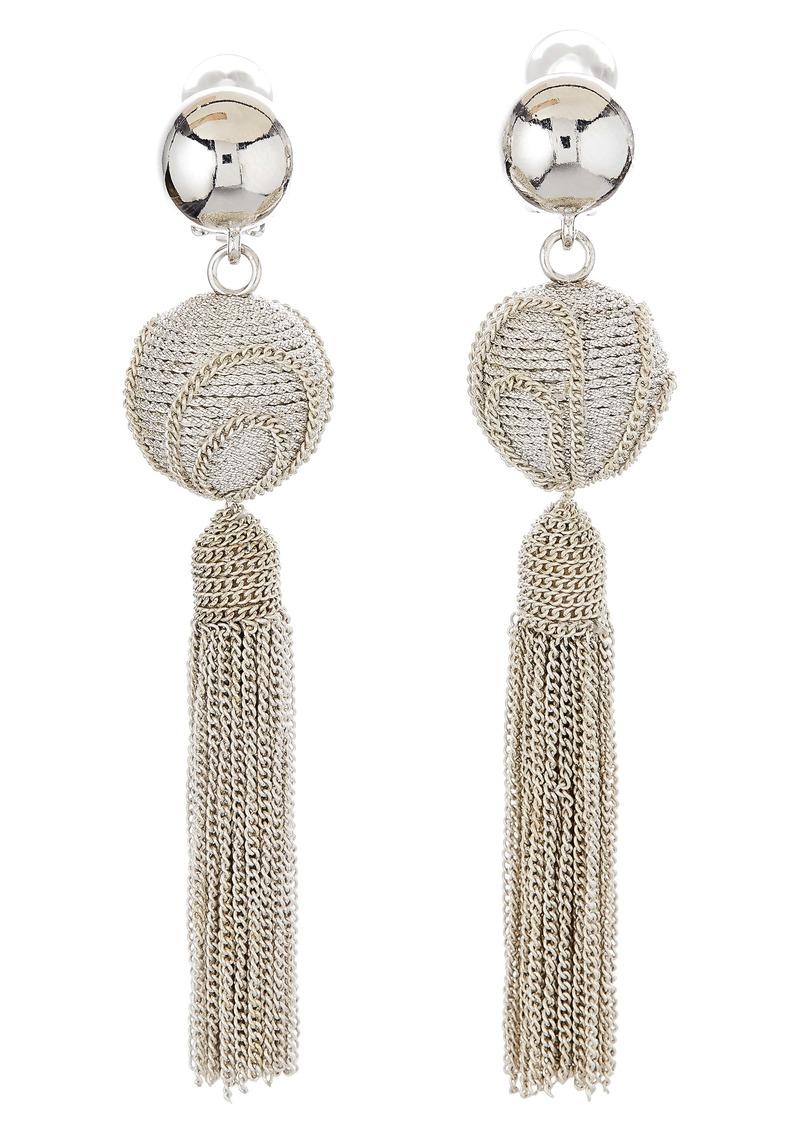 Oscar de la Renta Runway Tassel Chain Earrings