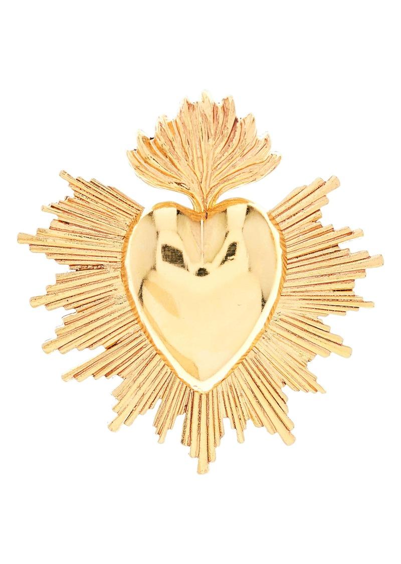 Oscar de la Renta Sacred Heart Brooch