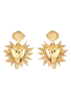 Oscar de la Renta Sacred Heart Earrings