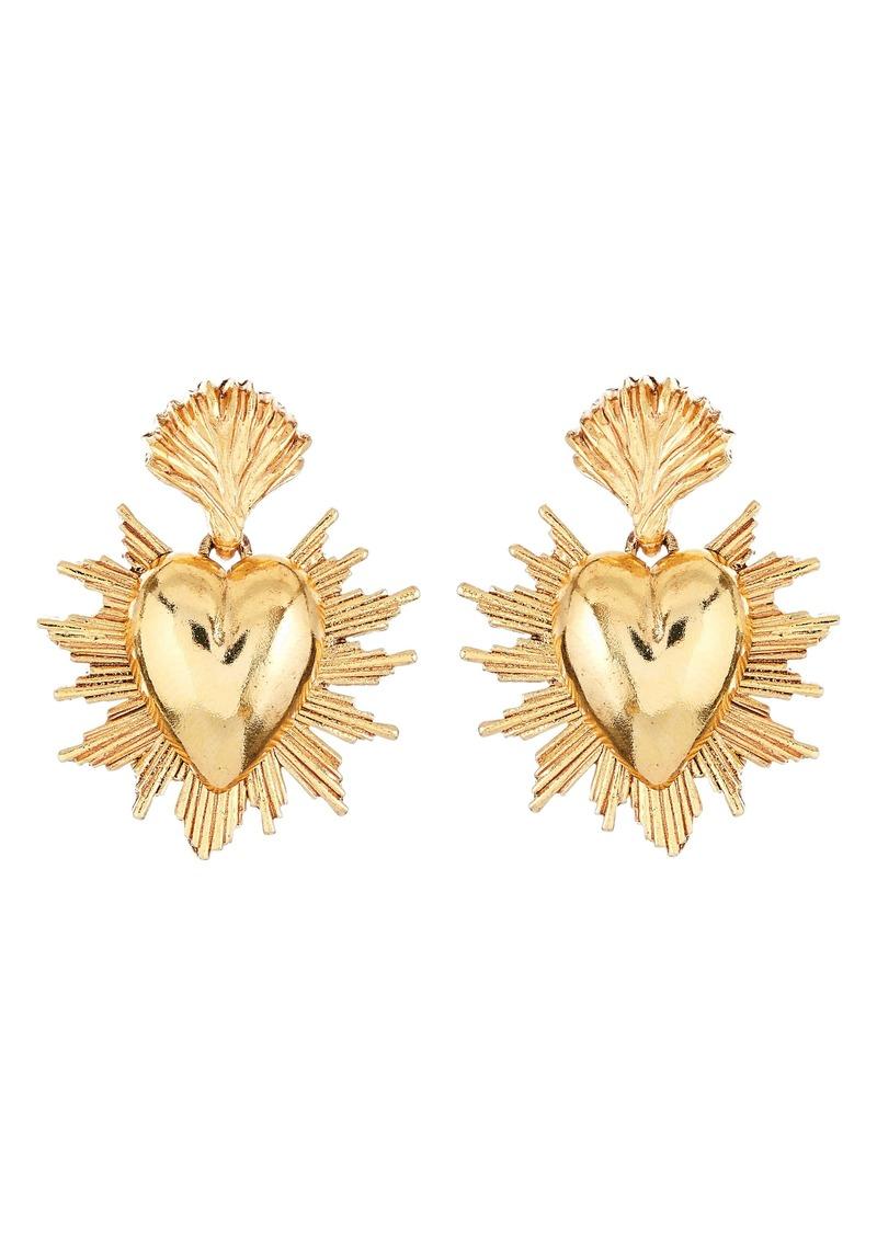 Oscar de la Renta Sacred Heart Earrings