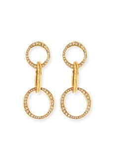Oscar de la Renta Scribble Crystal Pavé Dot-Linked Hoop Earrings