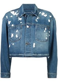 Oscar de la Renta sequin detail denim jacket - Blue