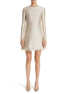 Oscar de la Renta Sequin Lamé Tweed Dress